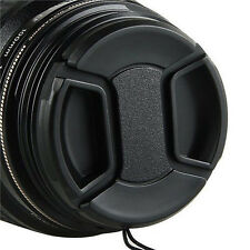 58mm SLR Camera Snap on Front Lens Cap Cover for Canon Nikon with String  PS