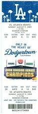 2009 Dodgers vs Braves Ticket: Javier Vazquez win/ Matt Diaz  home run