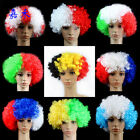 Football Fan Party Disco Rainbow Afro Clown Hair Adult Child Costume Curly Wig