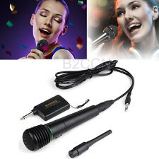 2in1 Pro Wireless Cordless Microphone Wired Undirectional DJ Singing Karaoke Mic
