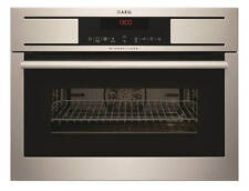 AEG KM8403001M Built-in Stainless Steel Electric Combi Microwave Grill Oven