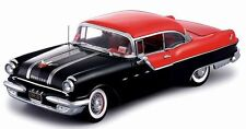 1955 Pontiac Star Chief BLACK w RED Top 1:18 SunStar 5042