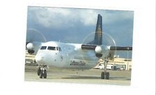 Lufthansa Cityline airlines issued fokker 50  cont/l  postcard