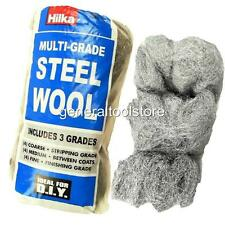 12 x STEEL WIRE WOOL PADS 4 X  GRADE:Coarse Medium Fine polishing cleaning IA38