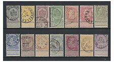 Belgium - 1893, 1c - 2f Complete set of 14 values - F/U - SG 78a/91