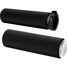 Arlen Ness Chrome Knurled Fusion Grips For Harley