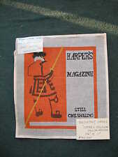 Printed needlepoint canvas by wrights needlework#302 330 Harper's Magazine