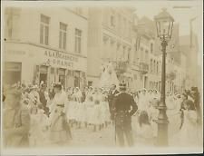Belgique, Procession, Défilé  Vintage citrate print Tirage citrate  9x12