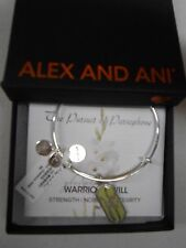 Alex and Ani GLADIOLUS Warrior's Will Expandable Wire Bracelet SILVER NWTB&C