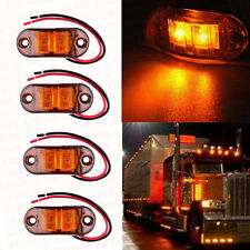 8x Amber LED Side Marker Light Indicator Truck Car Van Bus Trailers Lamp 12V 24V