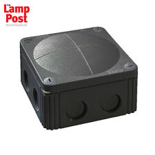 BLACK Wiska 308/5 Combi Junction Box IP66 - 30amp Rated - Outdoor Use