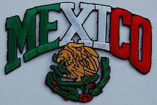 "MEXICO/Eagle (Arch) Embroidered Patches 4""x2.8"""
