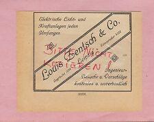 LEIPZIG, Werbung 1920, Louis Zentsch & Co. elektrische Licht-Kraft-Anlagen