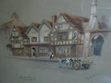 Vintage Clyde Cole Print - White Swan Stratford - Signed - Great for the Gift