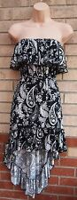 SELECT WHITE BLACK FLORAL RUFFLE BANDEAU PAISLEY FLIPPY SKATER SUMMER DRESS 12 M
