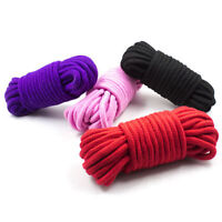 3 Soft Cotton Bondage Ropes - 10 metres (35ft) each rope!- Black Red Purple Pink