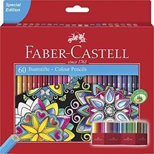 Faber CASTELL Lápices De Color Brillante Colores luminosos (paquete de 60)