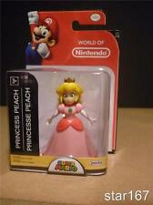 "WORLD OF NINTENDO 2.5"" PRINCESS PEACH FIGURE Jakks Pacific Super Mario INT SHIP"