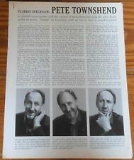 PETE TOWNSHEND 1994 Playboy 14 page Interview magazine The Who