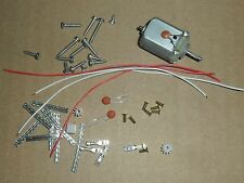 Scalextric car repair spares kit - motor, pinion, braid, eyelet, wire screws etc
