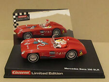 Carrera 25483 Red Mercedes-Benz 300SLR Ltd. Ed. #2412 Santa Claus 1:32 Slot Car
