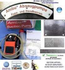 NOTFALL AMBU PUMPE UNI ABSAUGPUMPE EMERGENCY 1.AID SUCTION BOOSTER PUMP RTW DRK