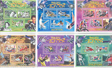 CHAD 2013 LONDON OLYMPICS  SET OF SIX COLLECTIVE  SHEETS  MINT NH