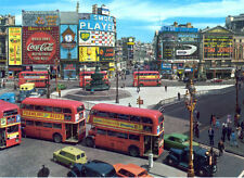 London Buses at Picadilly Circus Print A4 NEW FREE UK POSTAGE