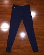 UNDER ARMOUR Cold gear Women's Running Leggings Small COMPRESSION Pants Navy