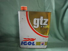 AC997 BIDON HUILE IGLO GTZ 15W40 ESSENCE DIESEL MOTOR OIL 2 LITRES MAUVAIS ETAT