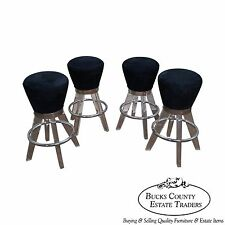 H. Studio Set of 4 Lucite Gumdrop Bar Stools by Haziza (B)