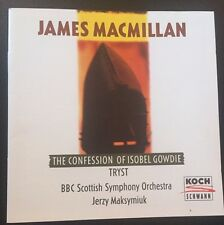 Jerzy Maksymiuk BBC Scottish Symphony : The Confession of Isobel Gowdie/Tryst CD