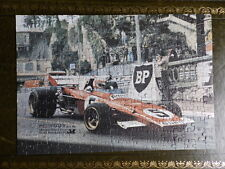 Vintage Clay Regazzoni 1971 Monaco Grand Prix Photo Jigsaw puzzle, Ferrari 312 B