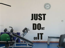 Fitness Motivational Gym Wall Decal Just Do It Vinyl Sticker Decor Mural 96fit