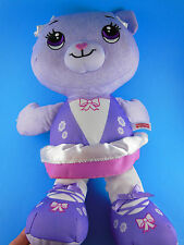 "Adorable 16"" Fisher Price Lavender Bear Doll Doodle"