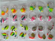 24 Spinner Rigs Leech Minnow Crawler Harness Walleye, Bass, Pike Colorado Blades