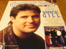 Vince Gill Covers Country Song Roundup Magazine January 1992 W/Poster