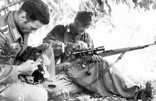 WW2 Photo German Sniper Cleaning Mauser Rifle WWII Germany World War 2 Wehrmacht