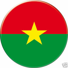 5 x sticker 5cm auto moto velo valise pc portable drapeau Rond Burkina