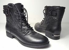 $149 size 9 Marc Fisher Andreya Black Leather Ankle Boots Womens shoes NEW