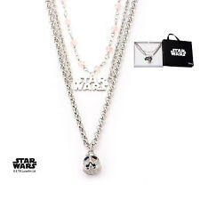 Women's Stainless Steel Star Wars Stormtrooper Three-Tiered Pendant Necklace