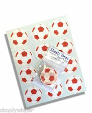 12 Red Football Cupcake Decoration Edible Cake Toppers Pre Cut 40mm Rice Paper