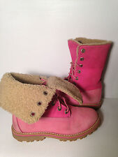 Timberland Roll Top Girls Boot Pink Size US 13