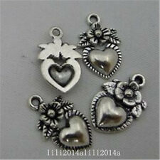 20pc Antique Bronze heart Pendant Bead Charms Jewellery Making PL883