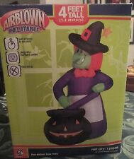 "Gemmy Airblown Inflatable ""Witches Brew"" 4 Feet Tall Halloween"