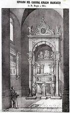 NAPOLI: Chiesa di Sant'Angelo a Nilo: Sepolcro del Cardinal Brancaccio. 1844