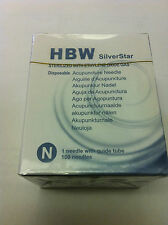 """Silver star(HBW) #42x0.25""""(0.14mmx7mm) acupuncture needle 100 pcs"""