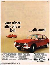 PUBLICITE ADVERTISING 105  1970  PEUGEOT  la 504