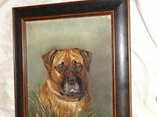 ANTIQUE ENGLISH VICTORIAN19th CENTURY DOG PORTRAIT OIL PAINTING