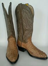 """GENUINE EXOTIC CAIMAN CROCODILE """"MAS"""" COWBOY BOOTS, MEN'S SIZE 5EE, MADE IN USA"""